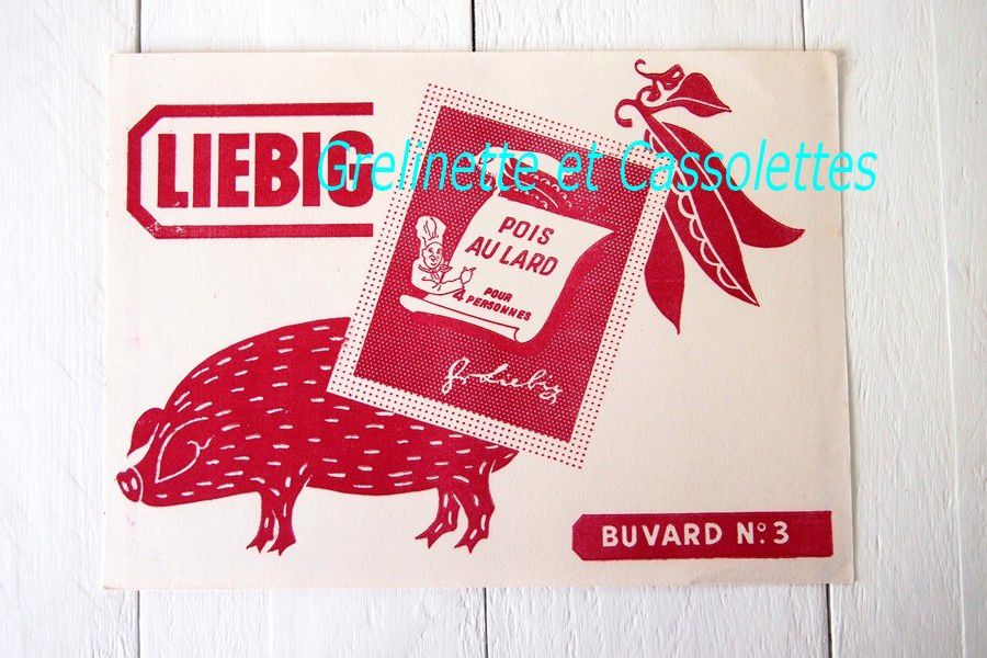 Collection de Buvards Publicitaires d'Alimentation