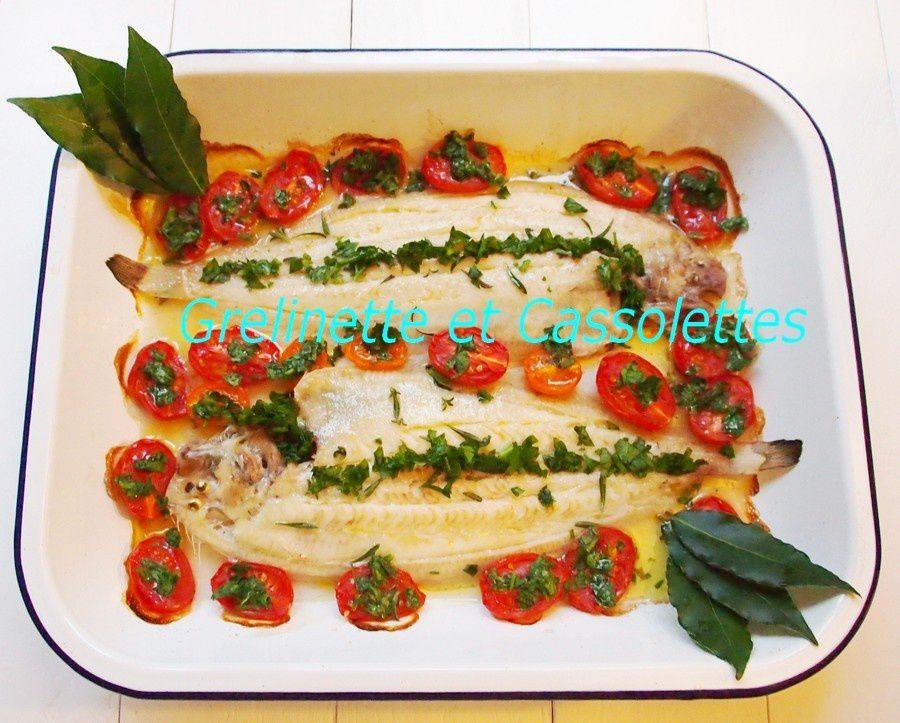 Soles au four, Tomates Cerises Confites au Tamari
