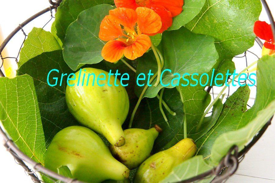 Poulet aux figues, au Cognac, et Aromatiques du Panier du Jardin