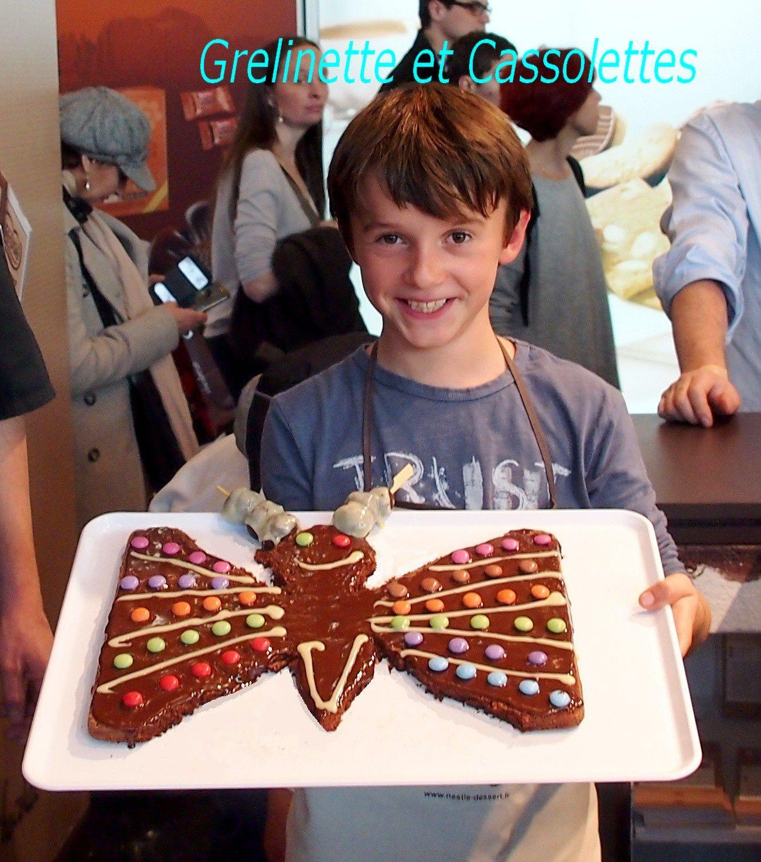Gâteau ChocoPapillon, Recette Nestlé Dessert pour les enfants, au Salon du Chocolat
