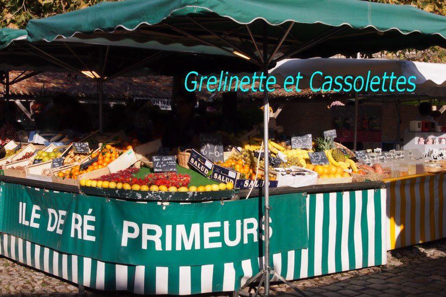 Au Marché sur l'Ile de Ré (I went to the market mon petit panier sous mon bras)
