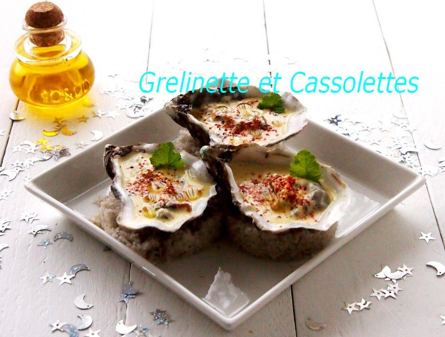 Huîtres chaudes, épicées et gratinées