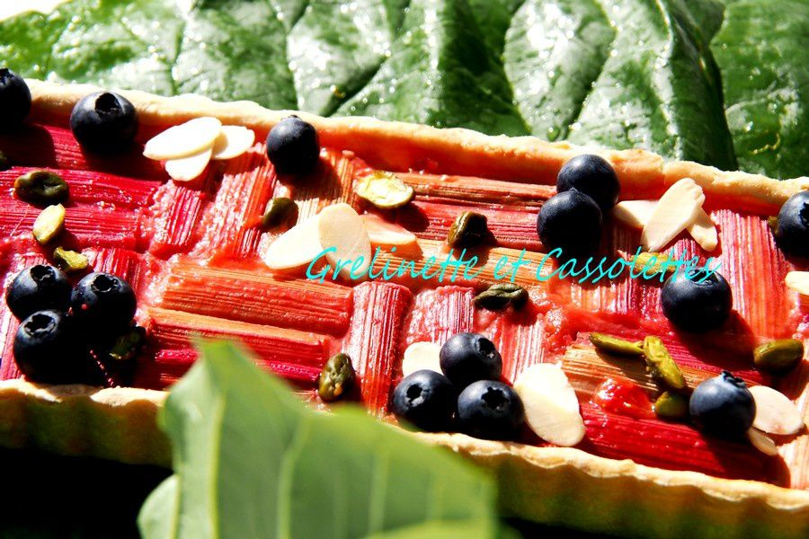 Rhubarb and Berry Tart