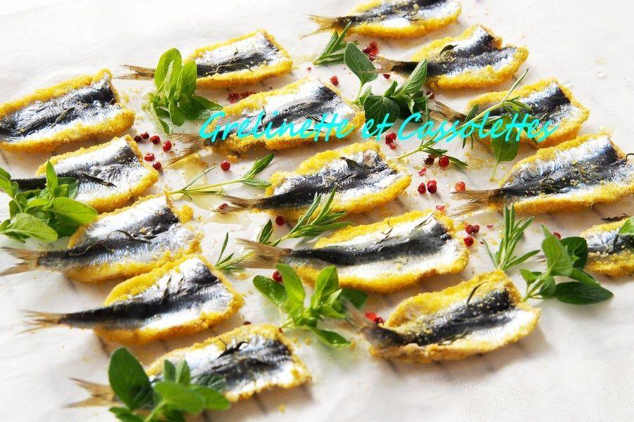 Sardines Panées à la Polenta