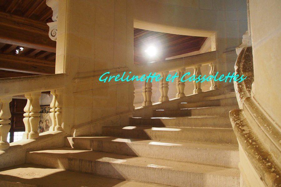 L'escalier si exceptionnel, probablement imaginé par Léonard de Vinci