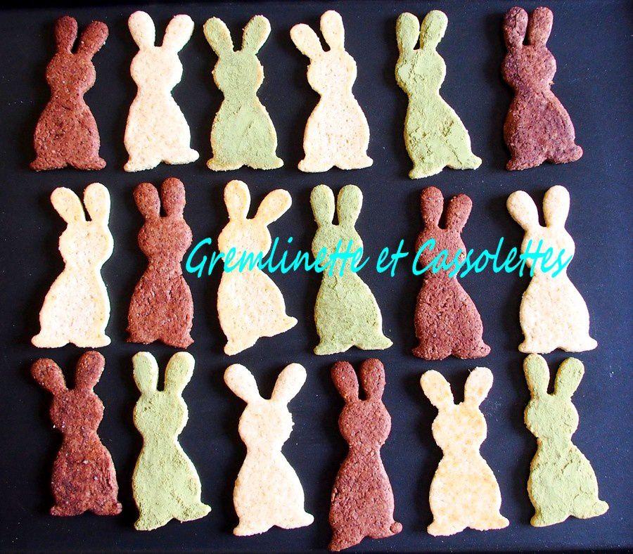 Biscuits Lapins, Amandes, Chocolat, Matcha