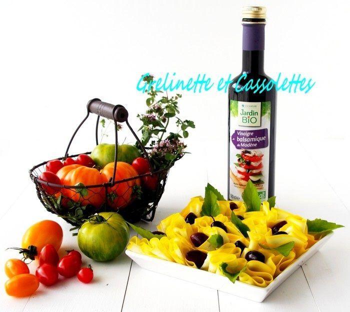 Cueillette du jour : Salade de Courgettes (Olives Kalamata et Balsamique)