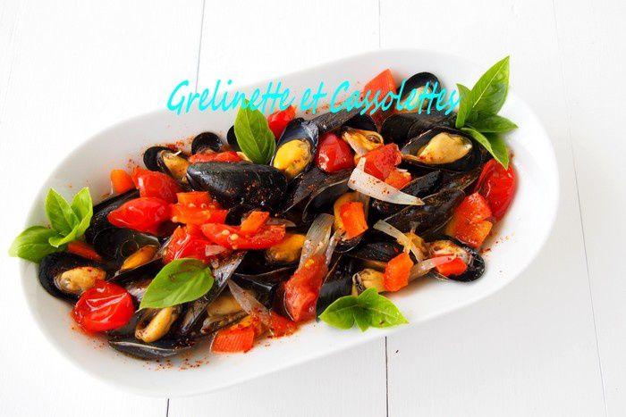 Moules aux Tomates et au Piment d'Espelette