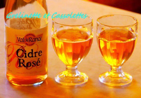 Poulet au Cidre Rosé, aux Pommes et aux Pruneaux, et Petites considérations sur la qualité des vins qu'on cuisine