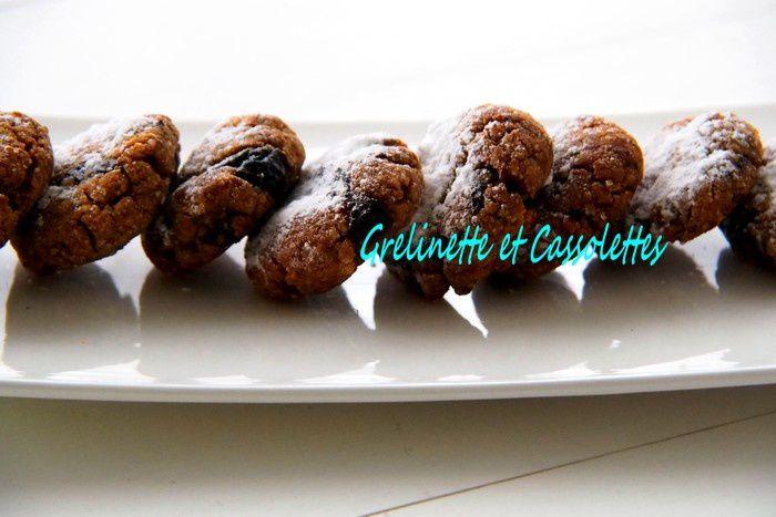 Cookies Vegan au Chocolat et Tonka, aux Pruneaux et à la Farine de Lupin