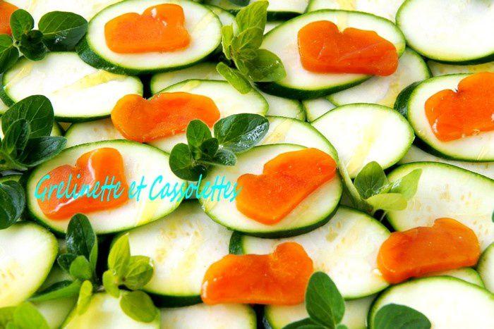 Salade de Jeunes Courgettes à la Poutargue et à l'Origan