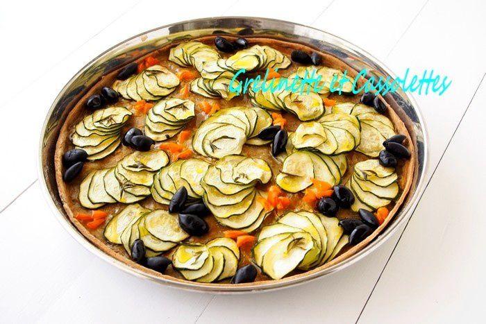 Tarte Fine aux Courgettes et aux Olives