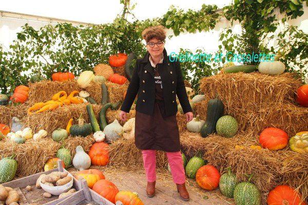 C'est moi ! Sur le stand vous retrouverez toutes mes Fiches Recettes avec les légumes du Potager de Saint Jean de Beauregard !