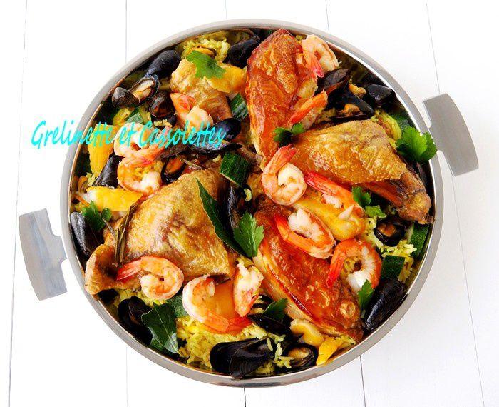 Paella au Curcuma et au Haddock