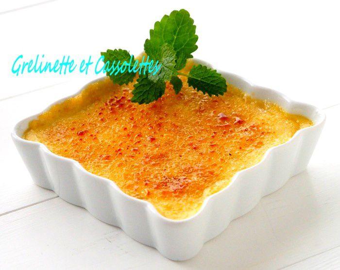 Crèmes Brûlées aux Pommes et au Calvados