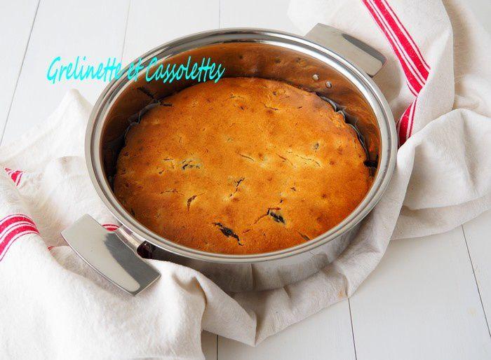 Cake au Rhum, aux Pruneaux et au Citron Bergamote, à la Sauteuse