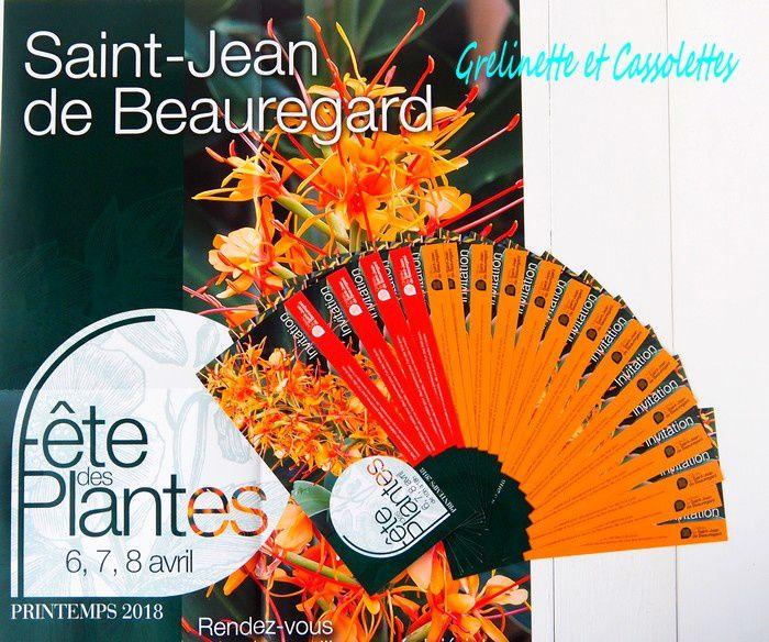 Qui veut Gagner ses Entrées pour la Fête des Plantes de Printemps de Saint Jean de Beauregard ?