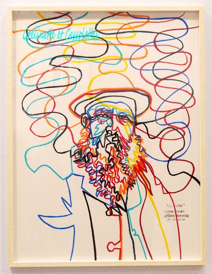 Galerie Caroline Smulders (Paris), Gérard Fromanger, Claude Monet, pastel sur papier, 80 cm x 60 cm