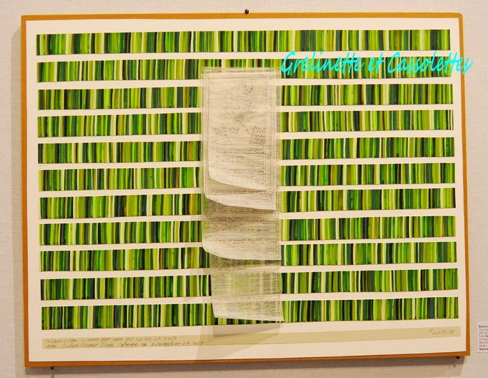 """Gaelerie Werner Klein, Kôln, Danica Phelps, """"income from income's outcome"""", Mischtechnic, 40,8 x 51,7 cm"""