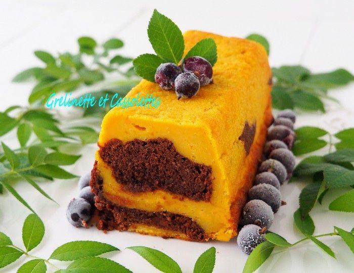 Cake au Potiron, Parfums Badiane et Chocolat (sans beurre, sans lactose)