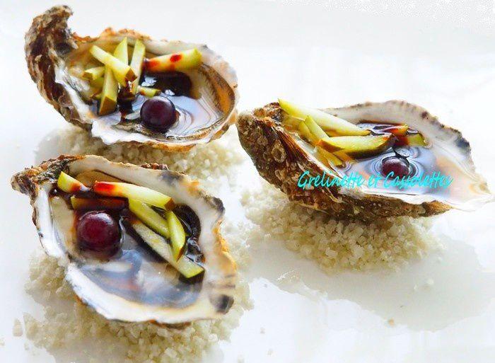 Huîtres aux Poires juteuses et Caramel de Balsamique