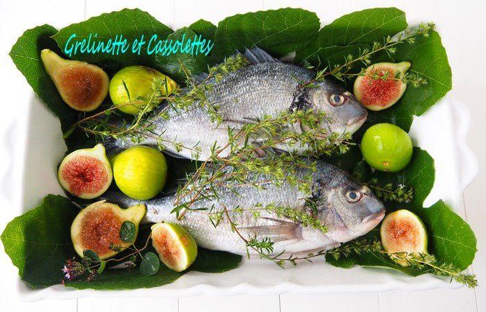 Daurades aux Figues, diététique et light