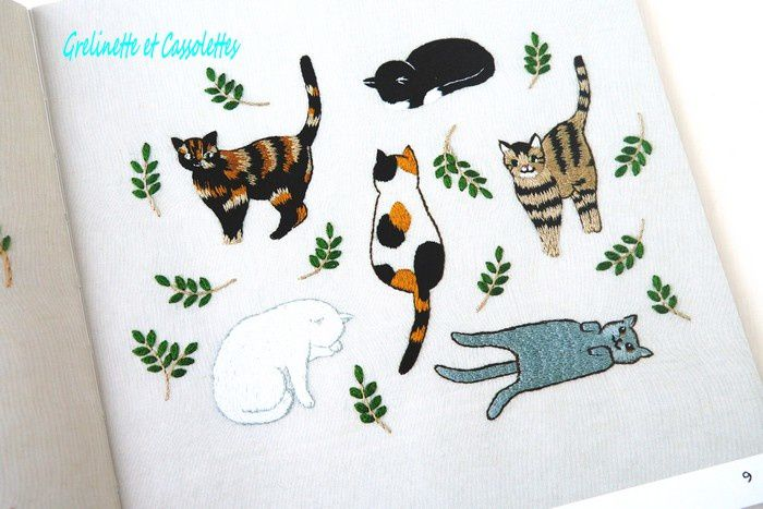 Broderies 100% Chat