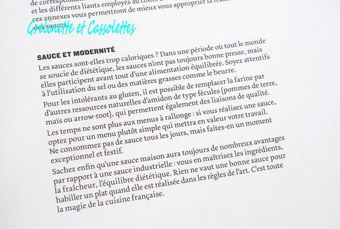 Sauces, Leçons en pas à pas d'Eric Trochon, Meilleur Ouvrier de France