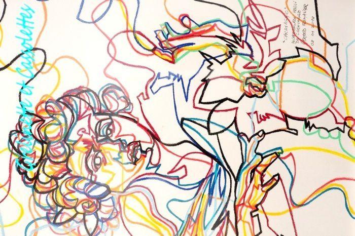 Galerie Caroline Smulders (Paris), Gérard Fromanger, Le Caravage, pastel sur papier, 80 cm x 60 cm