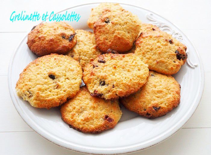 Cookies au Citron Bergamote et aux Cranberries