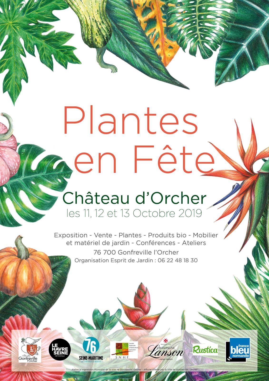 Plantes en Fête au Château d'Orcher et exposition d'Aquarelles d'Inspiration Botanique