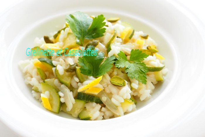 Risotto tonique Courgette Citron, à l'huile de Noisette