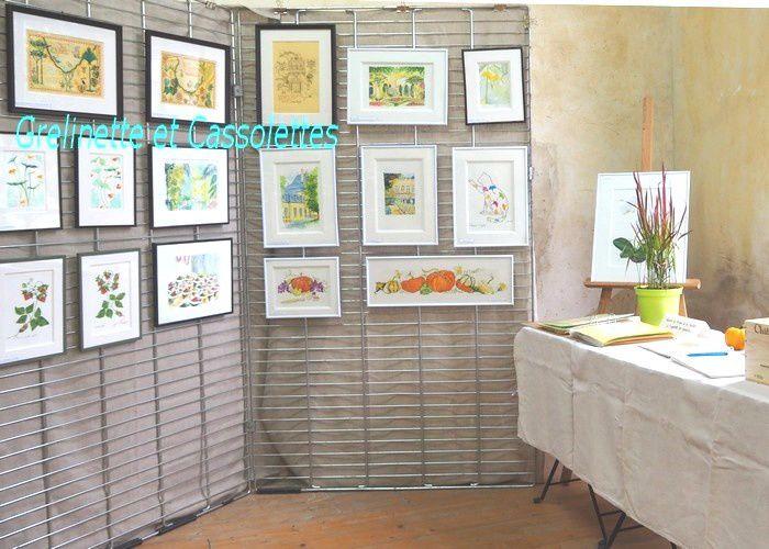Les Aquarelles Menthe à l'Eau, Exposition dans l'Orangerie du Château de Jossigny