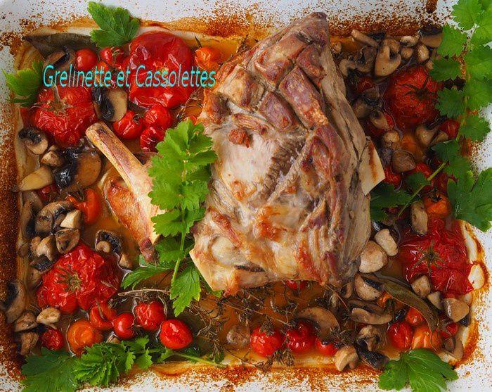 Gigot rôti aux Tomates confites, temps de cuisson du gigot
