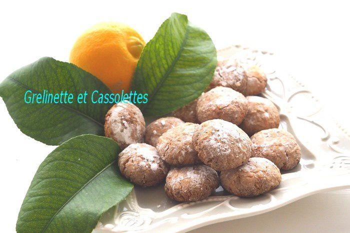 Amaretti au Citron Bergamote