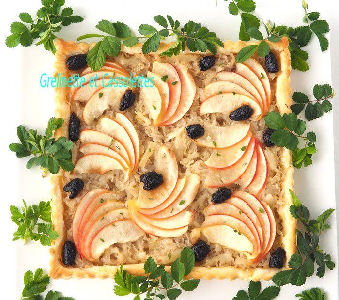 Tarte à la Choucroute, à l'Ossau Iraty et aux Pommes