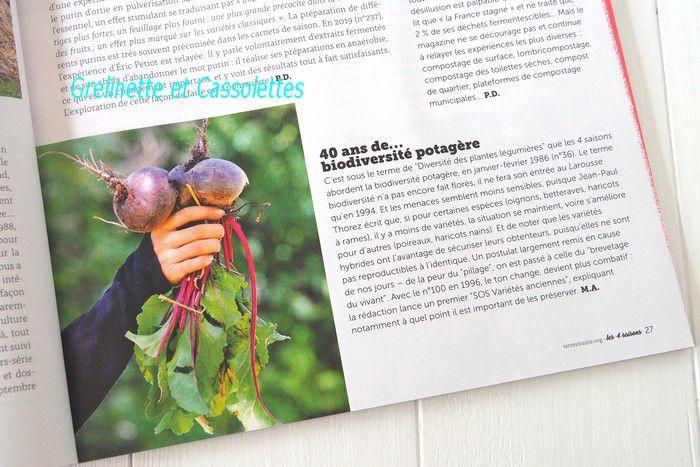 4 Saisons a 40 ans ! Pourquoi ce magazine du Jardin Bio, de la Permaculture et Alternatives est culte...
