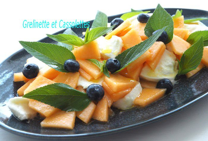 Carpaccio de Melon à la Mozzarella