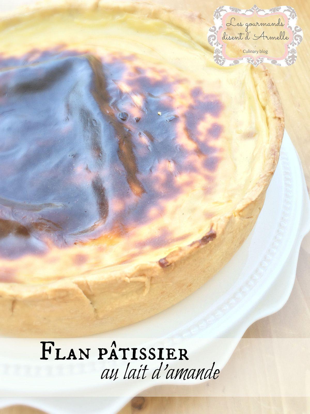| Flan pâtissier au lait d'amande |
