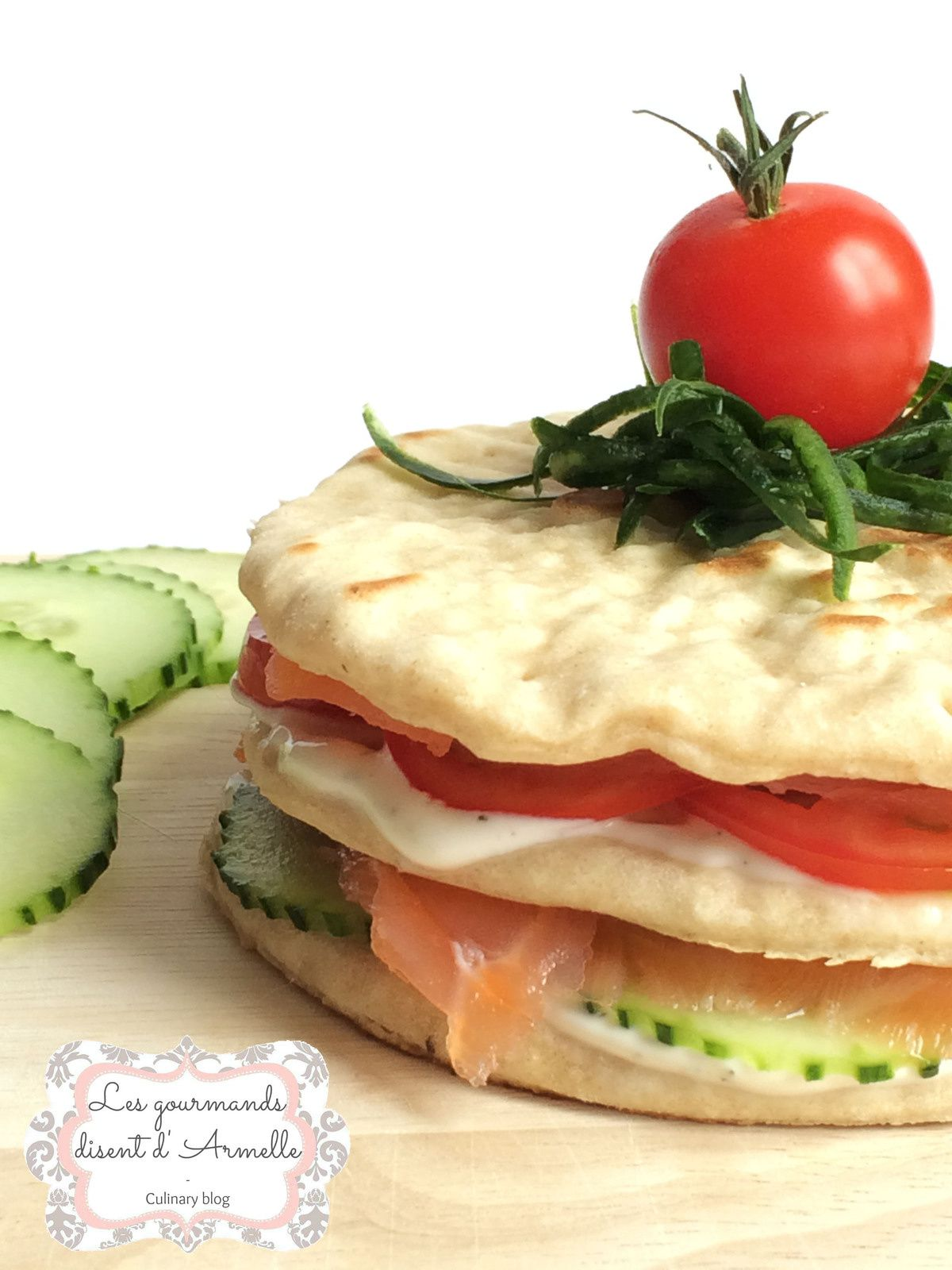 |Sandwich suédois au saumon et sauce yaourt| © Les Gourmands {disent} d'Armelle