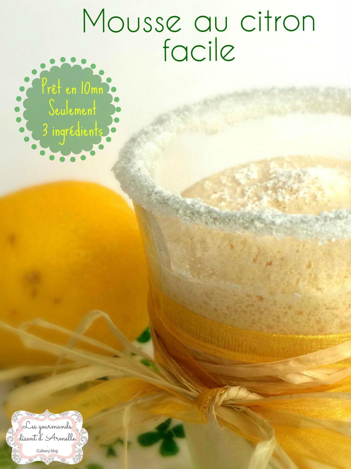Mousse au citron facile (givrée ou non)