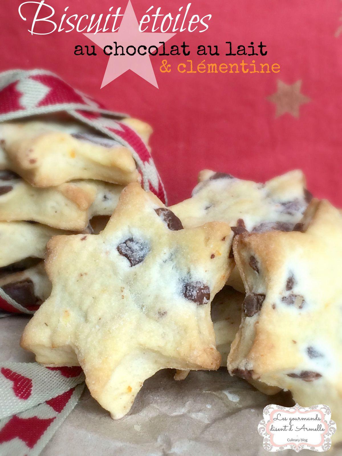 Biscuit Etoiles au chocolat au lait et clémentine