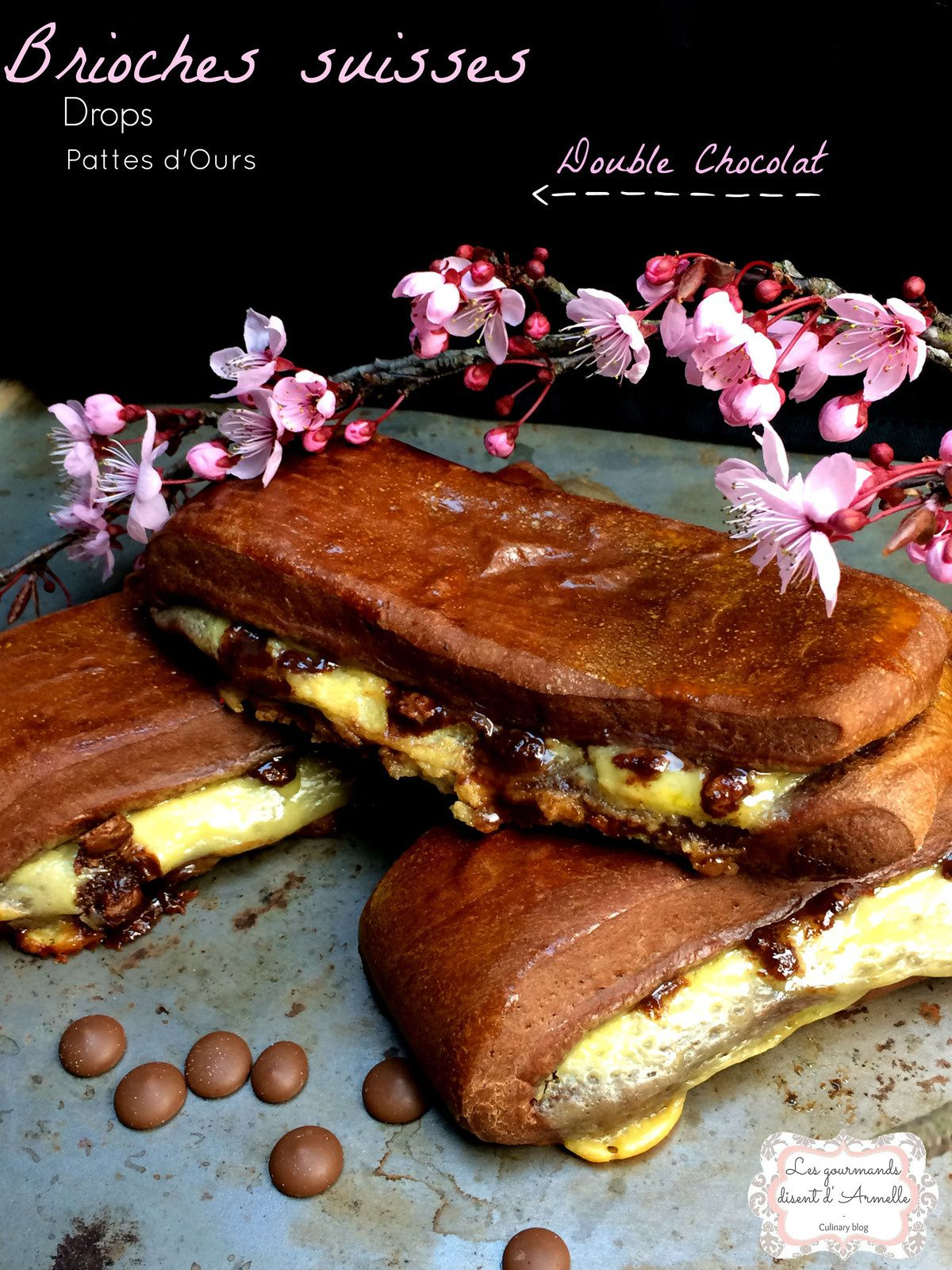 Brioches Suisses Double Chocolat  © Les Gourmands {disent} d'Armelle