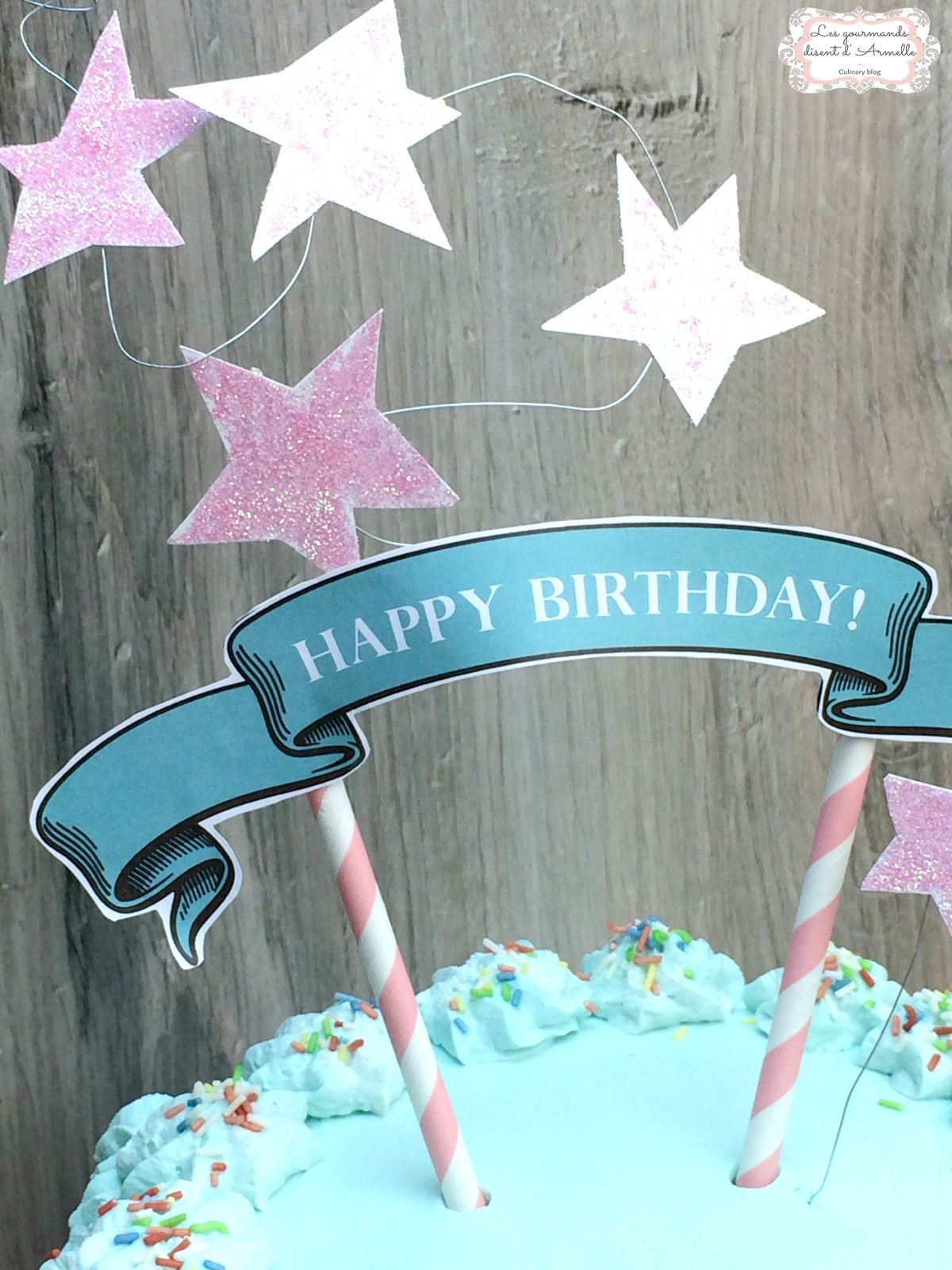 Confetti cake (birthday cake - gâteau d'anniversaire)