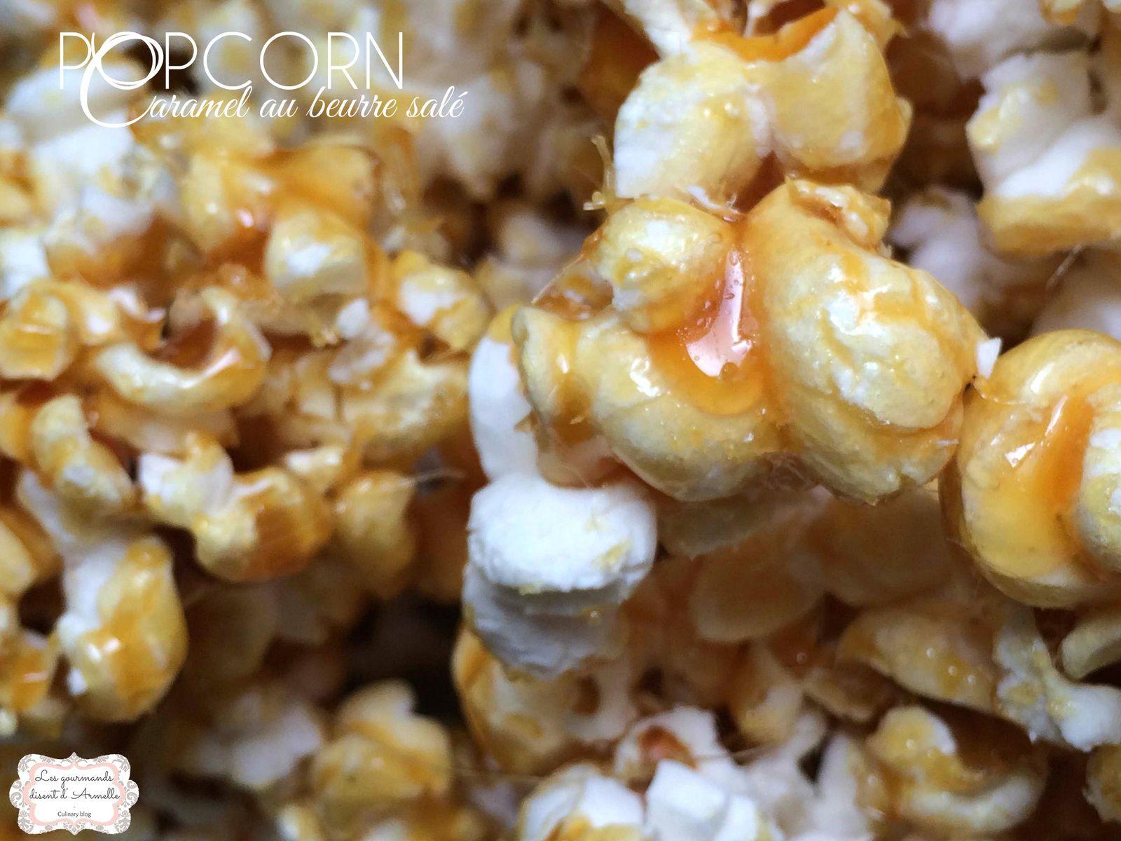 Popcorn au caramel beurre salé