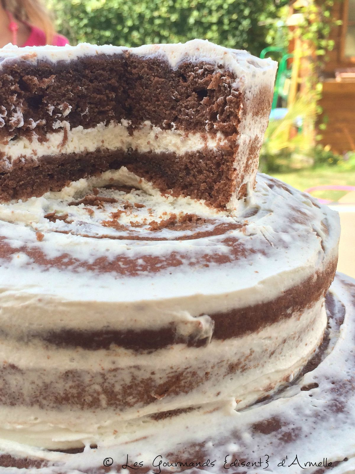 Naked Cake  - Gâteau nu au chocolat en layer cake