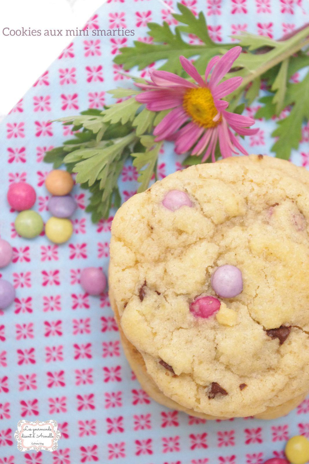 | Cookies aux mini smarties | © Les Gourmands {disent} d'Armelle