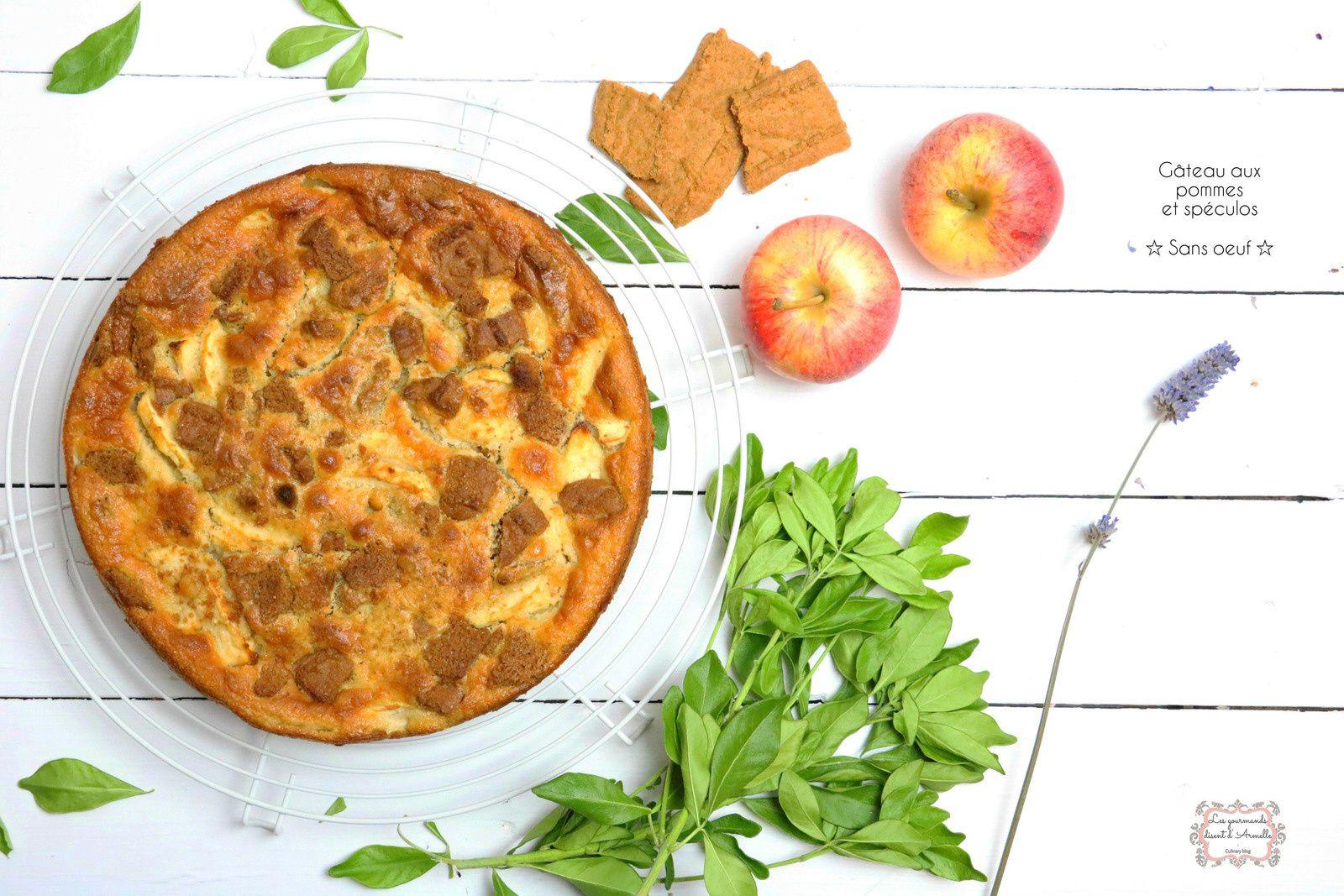 | Gâteau aux pommes et spéculos | Sans oeuf © Les Gourmands {disent} d'Armelle