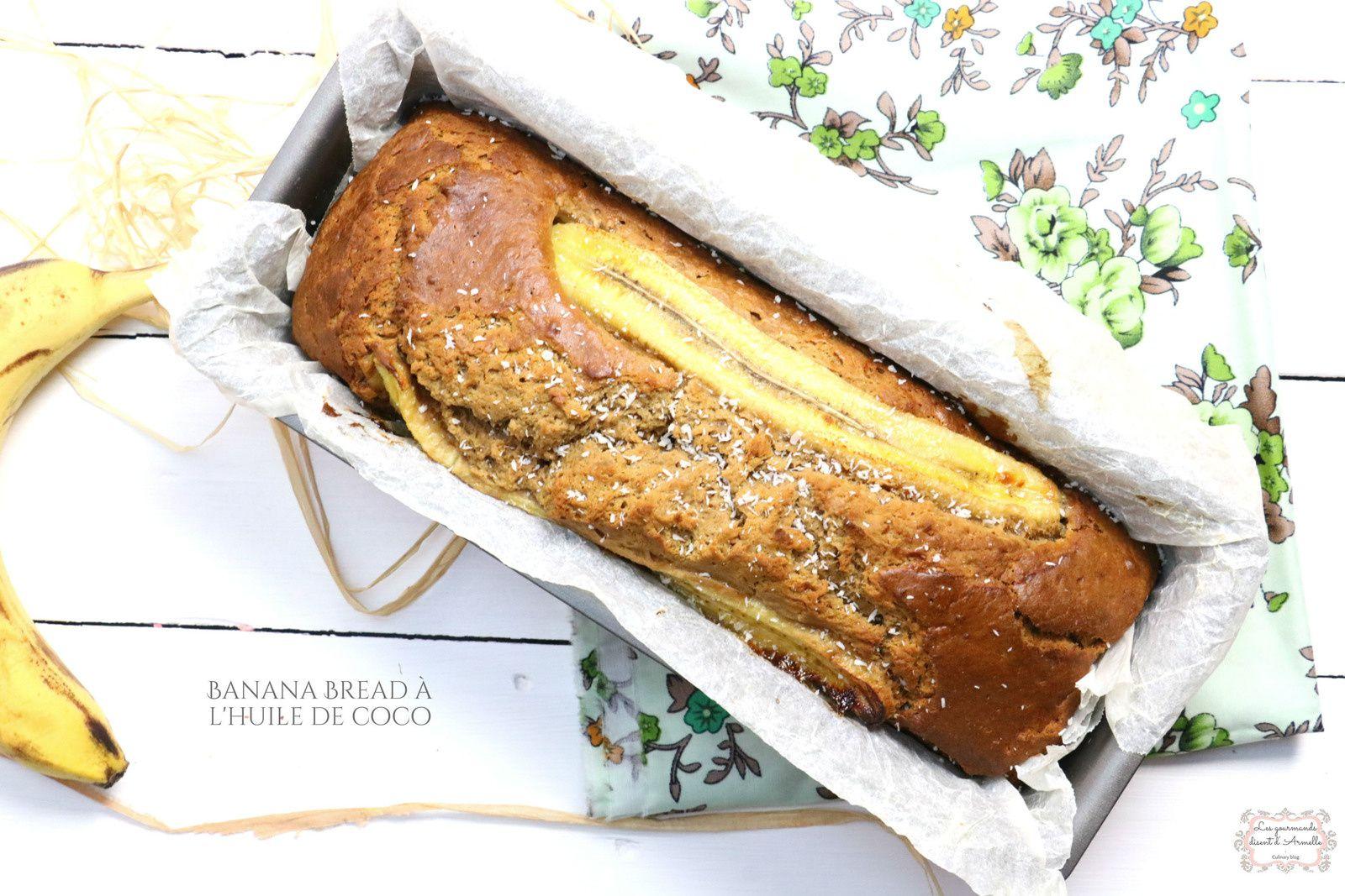 | Banana bread au coco sans beurre | A l'huile de coco  © Les Gourmands {disent} d'Armelle