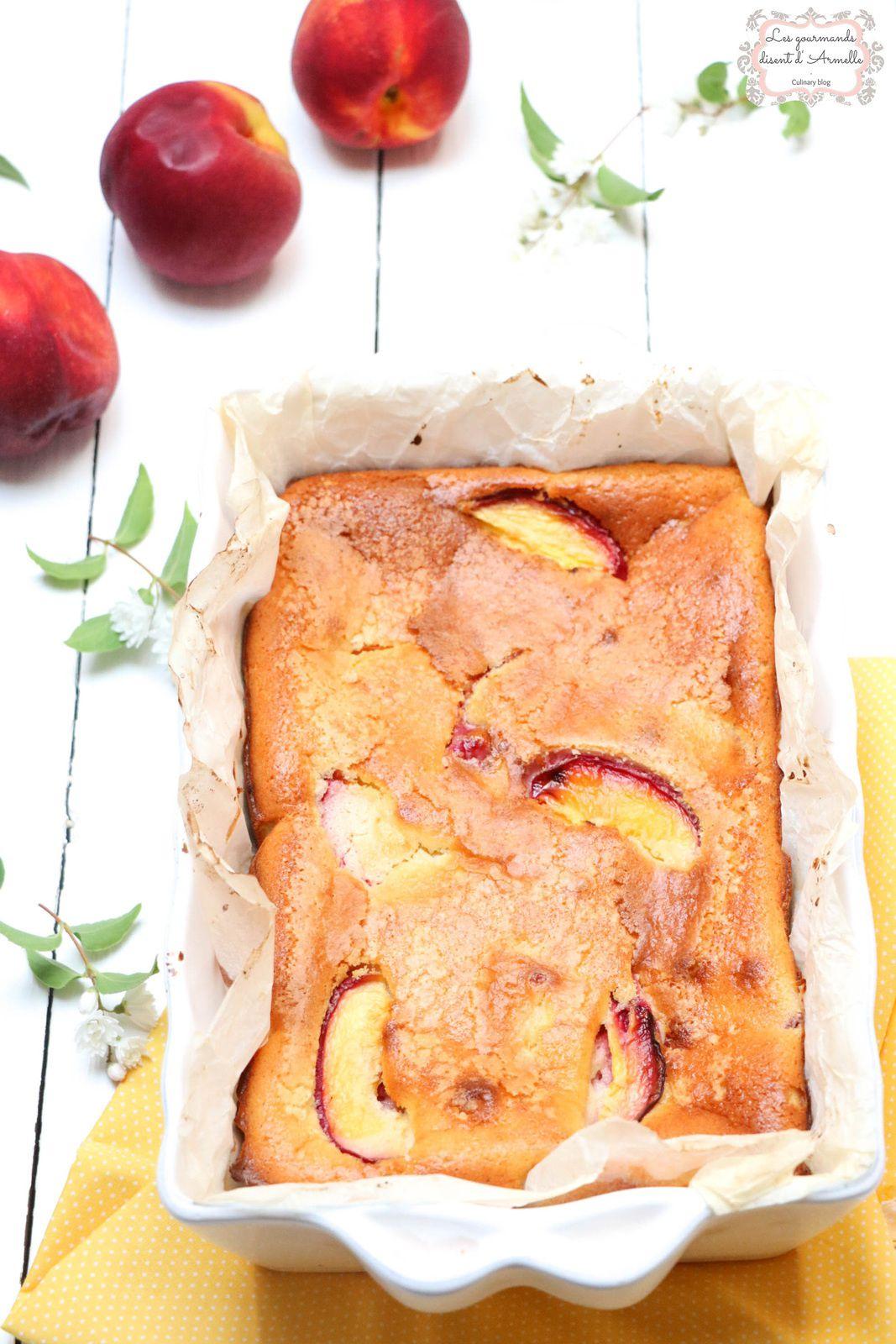 Clafoutis aux nectarines et vanille © Les Gourmands {disent} d'Armelle